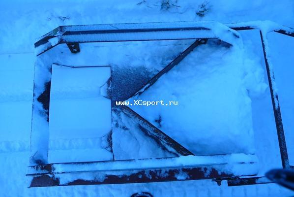Резак для прокладки лыжни, вид сверху