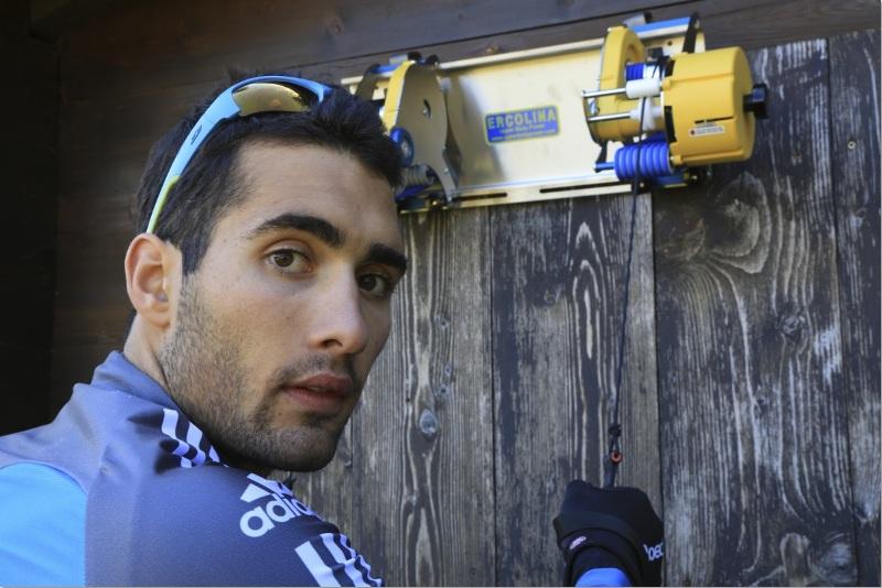 Мартен Фуркад на летней тренировке с тренажером ERCOLINA